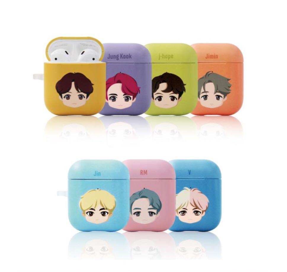 OFFICIAL BTS CHARACTER ( BASIC HEAD HARD CASE AIRPODS )