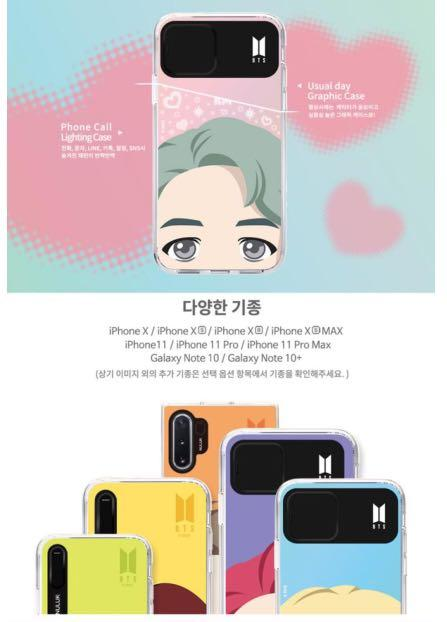 OFFICIAL BTS CHARACTER ( FULL FACE LIGHT UP CASE )