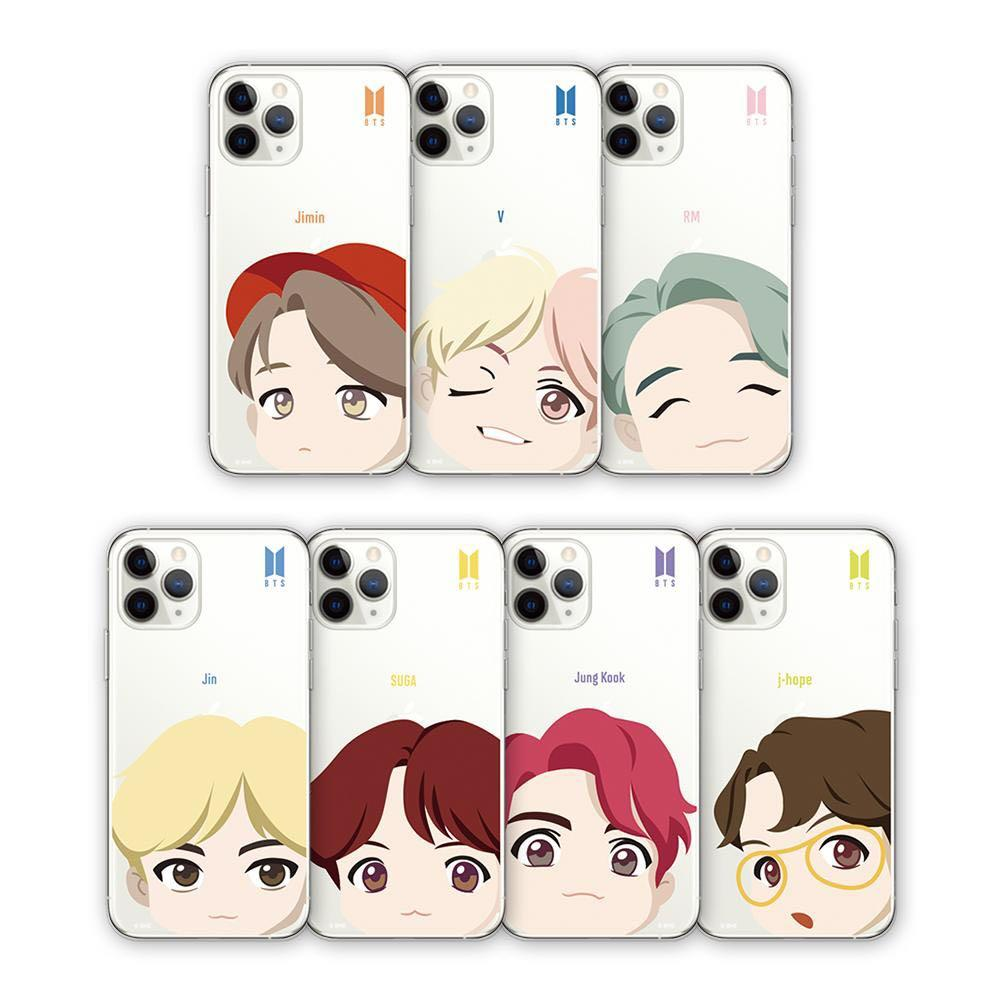 OFFICIAL BTS CHARACTER ( MOTION FACE CLEAR SOFT CASE )