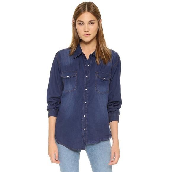 One Teaspoon Salted Indigo Liberty Denim Shirt NWT (Size XXS & XS)