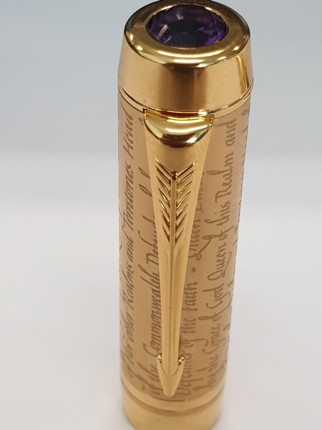 Parker Duofold Queen Elizabeth II Accession 2002 Limited Edition Fountain Pen