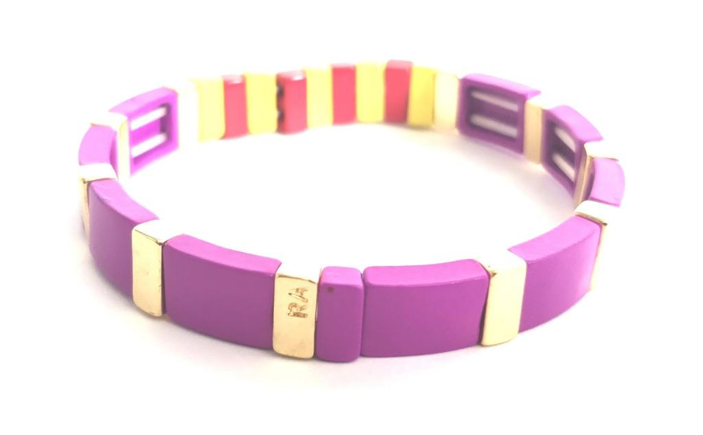 ROXANNE ASSOULIN Enamel Bracelet purple Stretchable bracelet women jewelry