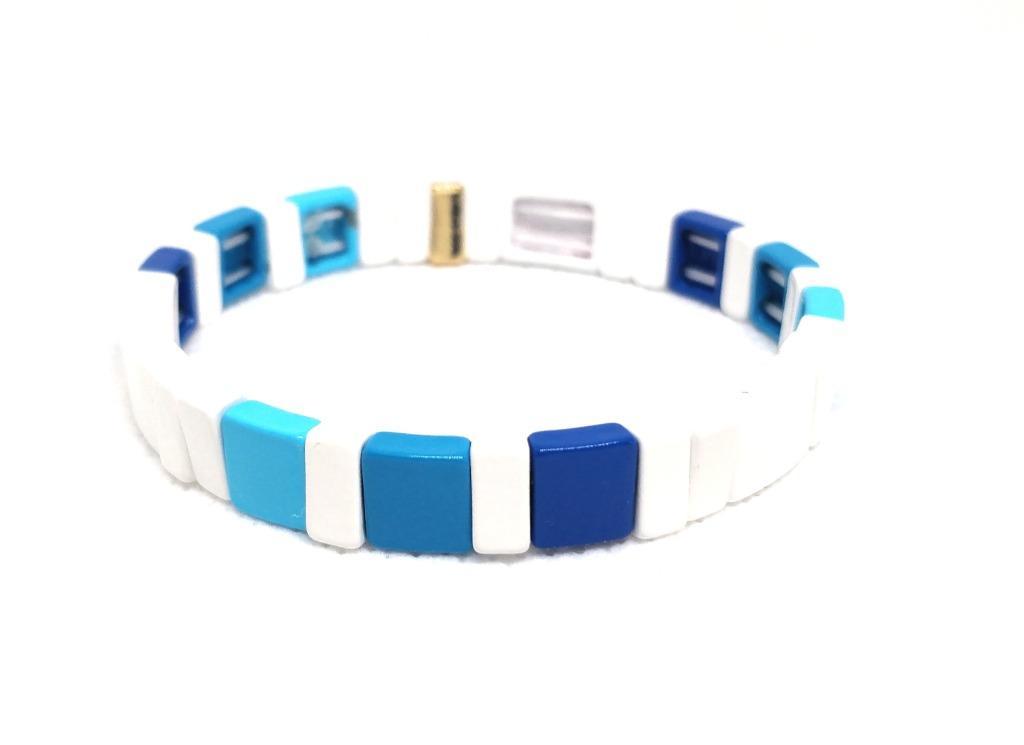 ROXANNE ASSOULIN Enamel Bracelet Sport White Stretchable bracelet women jewelry