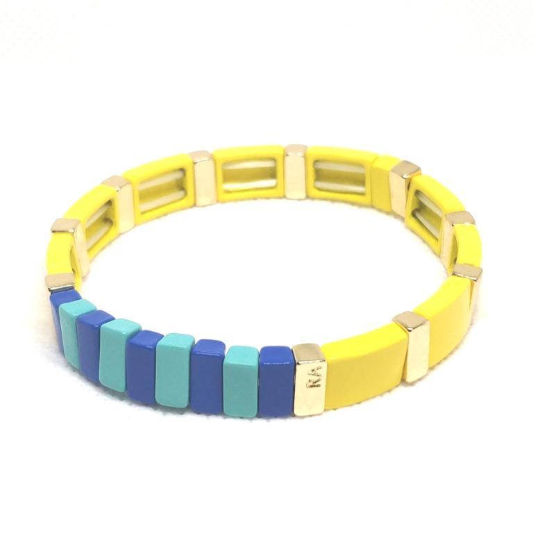 ROXANNE ASSOULIN Enamel Bracelet Yellow Stretchable bracelet women jewelry