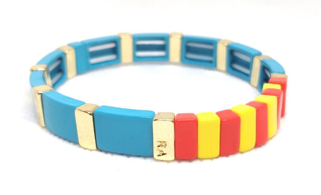 ROXANNE ASSOULIN Hibiscus Enamel Bracelet Sport Blue
