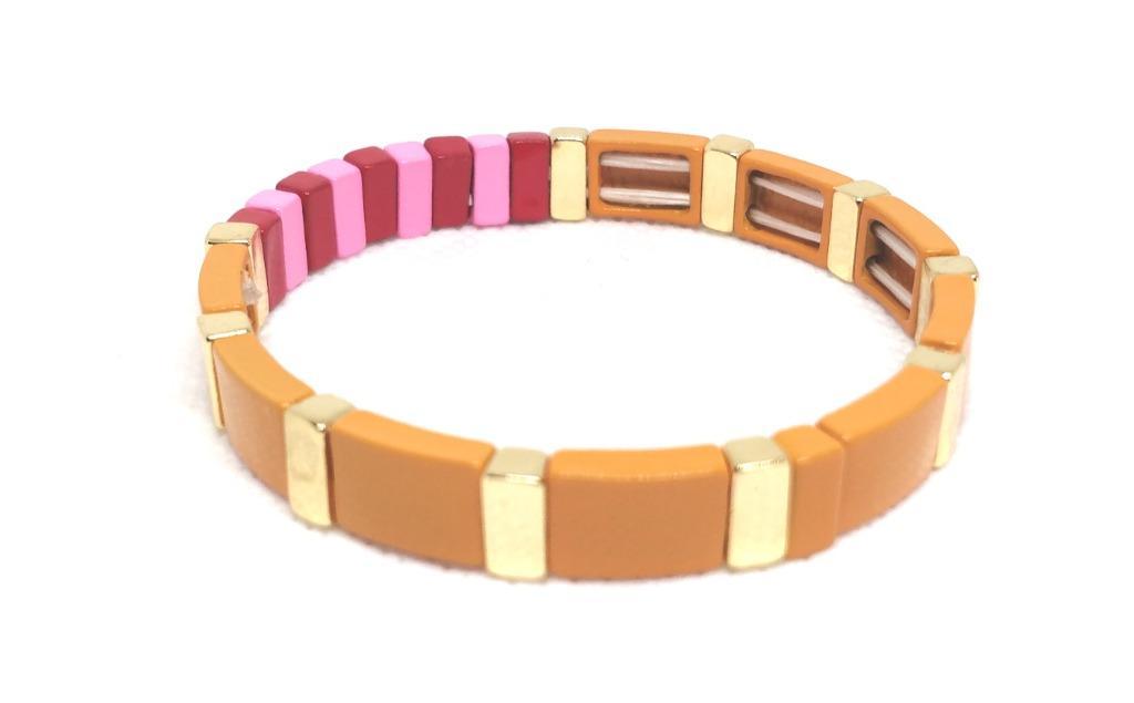 ROXANNE ASSOULIN Hibiscus Enamel Bracelet Sport Orange