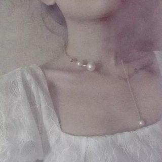 韓國珍珠鎖骨項鍊