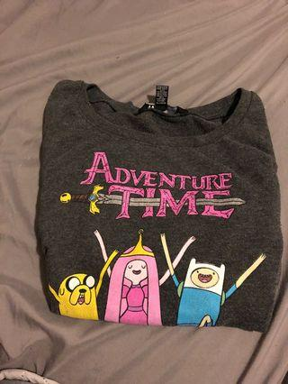 Adventure Time Cropped Sweater    Size M