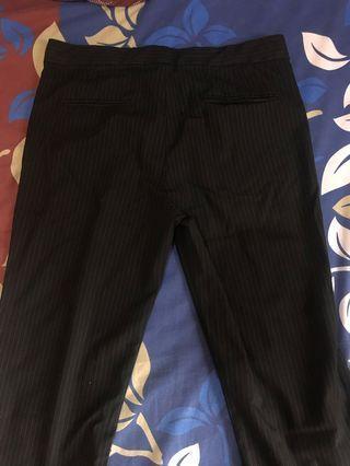 #CNY2020 Black Stripe pants office / celena stripe