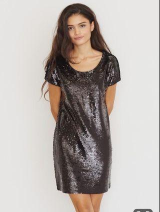 Sequin T-shit dress
