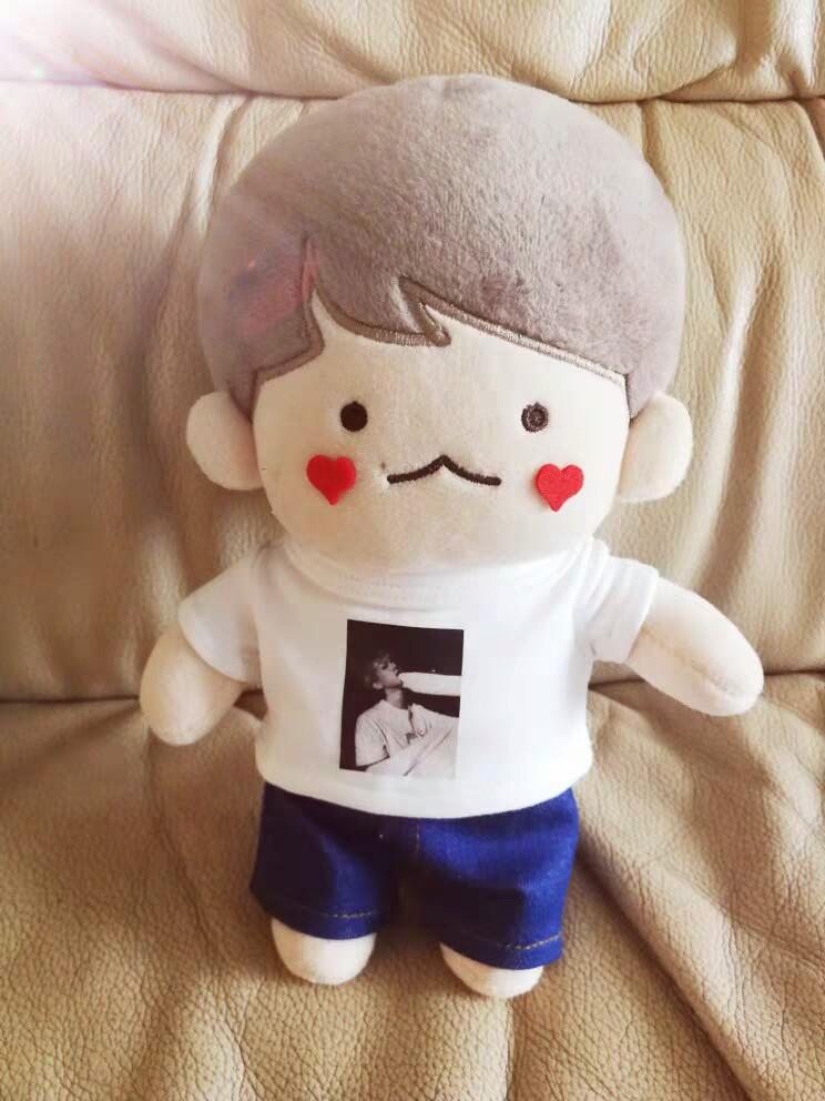 20cm baekhyun prive selfie doll t-shirt jeans preorder