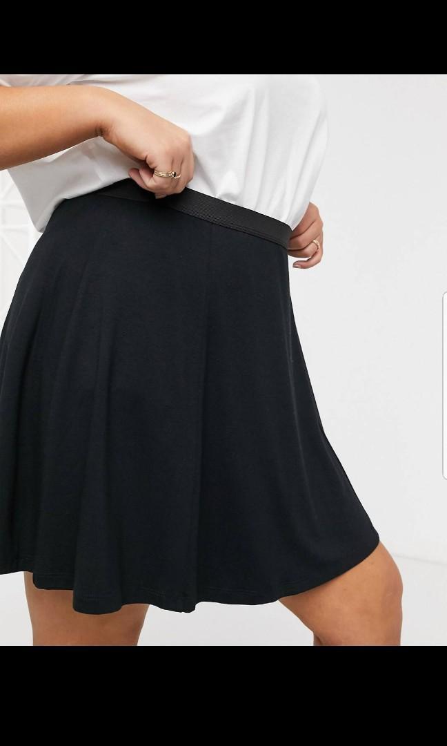 ASOS Design curve elasticated waist flippy mini skirt