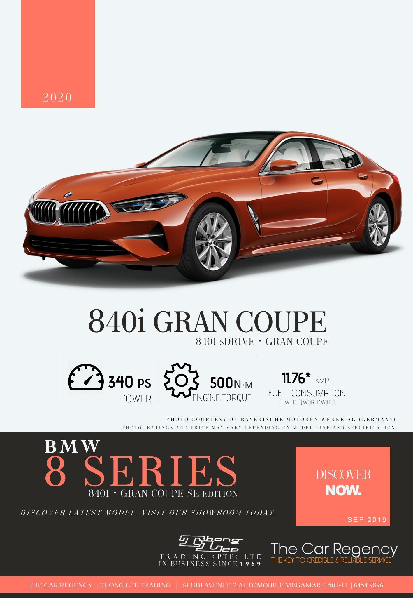 BMW 840i Gran Coupe M SPORT [ 8 Series ]