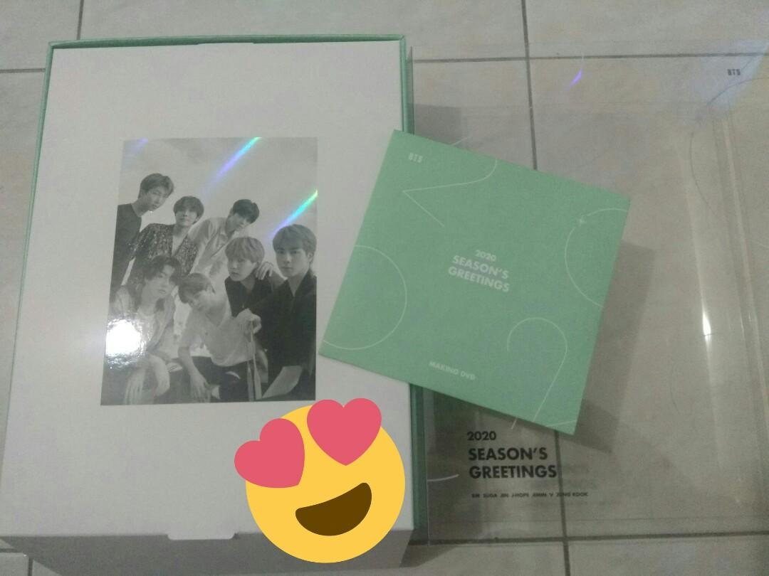 BTS SEASONS GREETINGS 2020 OUTSLEEVES + THE MAKING DVD