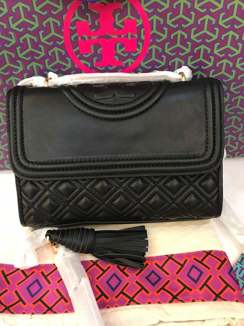(CNY Ready Stock last postage)Authentic Tory Burch Fleming and Matt black convertibles satchels sling bagb