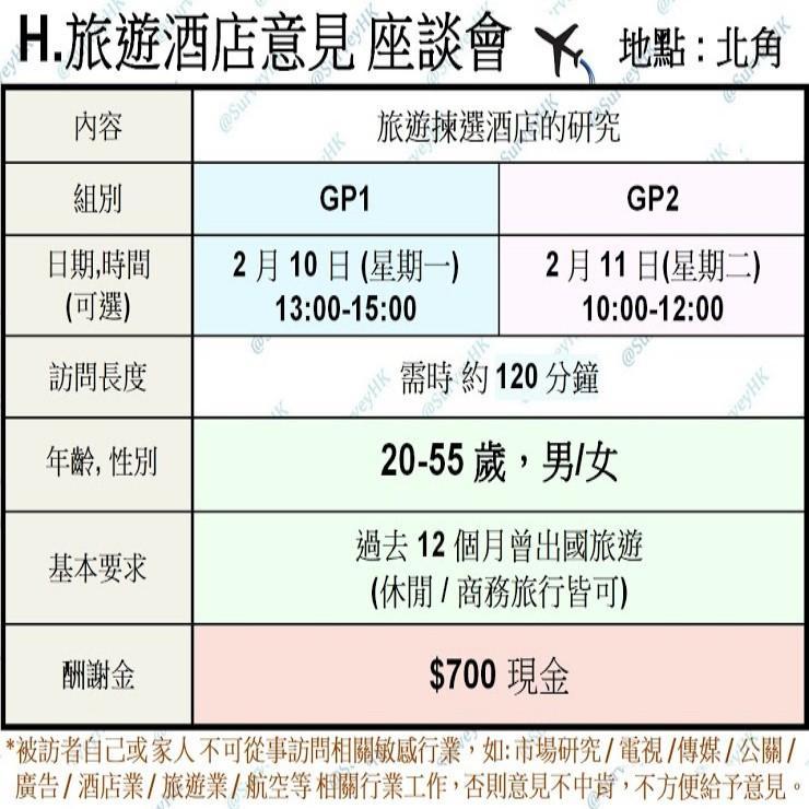 H.旅遊酒店意見座談會 (10-11/2)