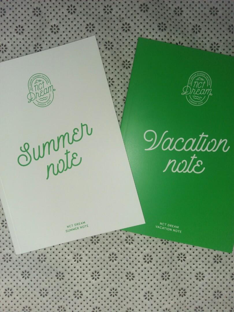 NCT DREAM 2019 SUMMER VACATION KIT VACATION NOTE SUMMER NOTE