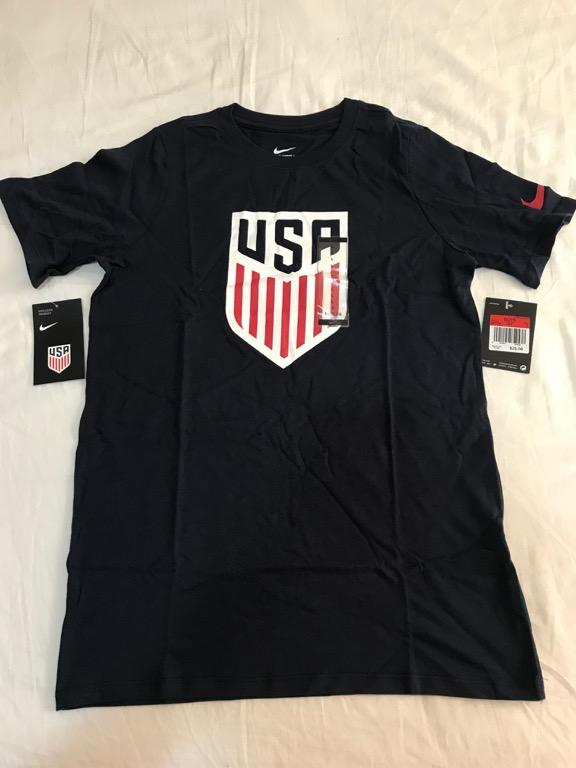 NIKE Team USA Crest Youth Obsidian Navy T-Shirt - Youth Large