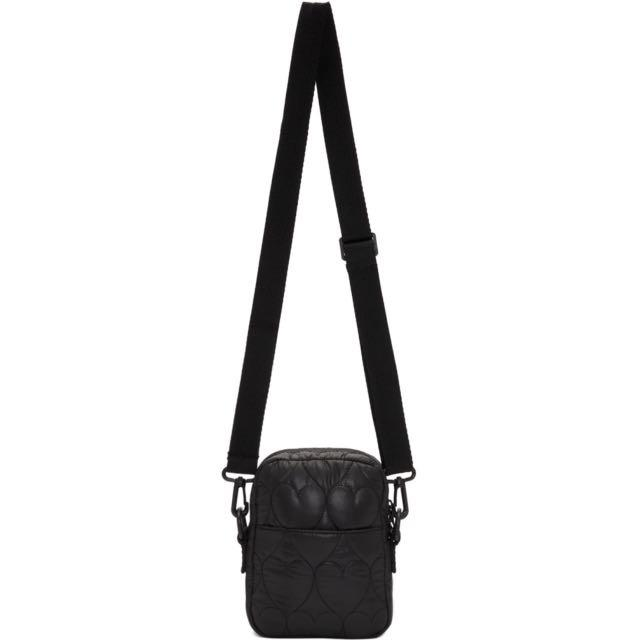 Opening Ceremony Heart Quilted Mini Crossbody - Black