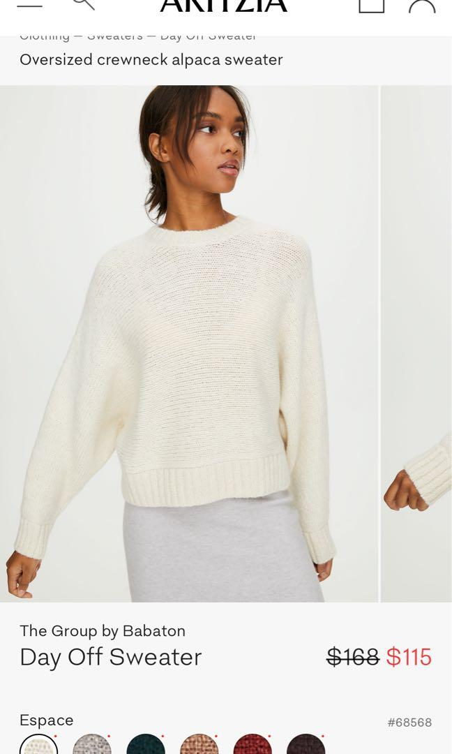 The Group by Babaton Day Off Sweater in Espace, XXS