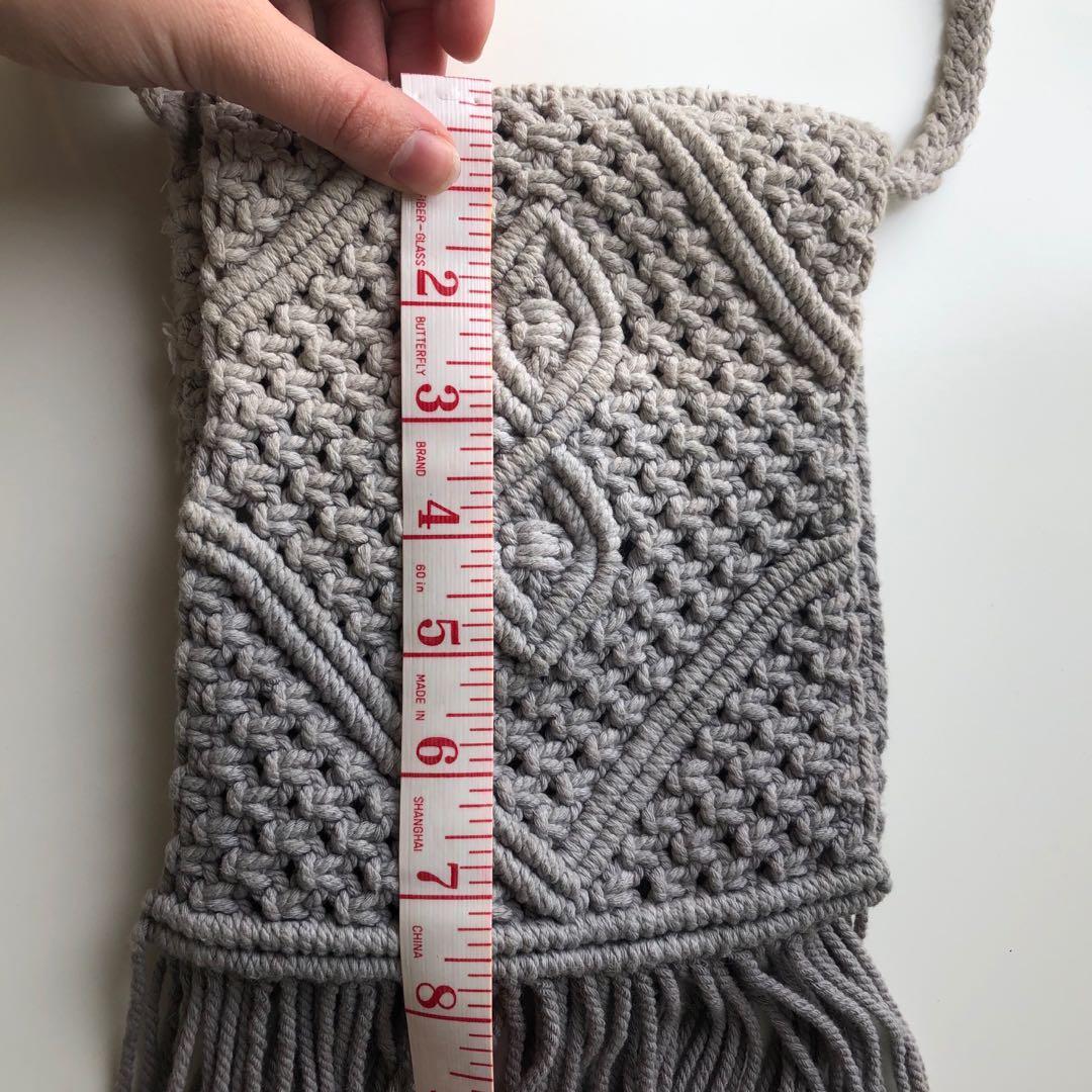 Urban Outfitters Ecote Macrame Ombré Crossbody Bag
