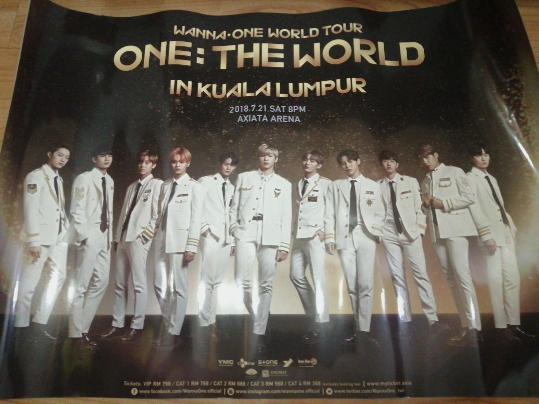 OFFICIAL WANNA ONE WORLD TOUR  <ONE: THE WORLD> IN KUALA LUMPUR POSTER
