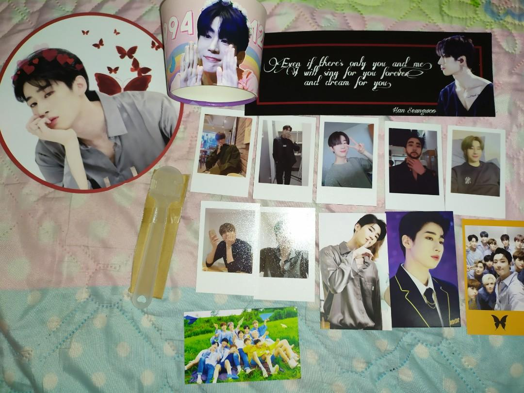 [WTS] X1 Victon Seungwoo cupholder+ fankit fanmade