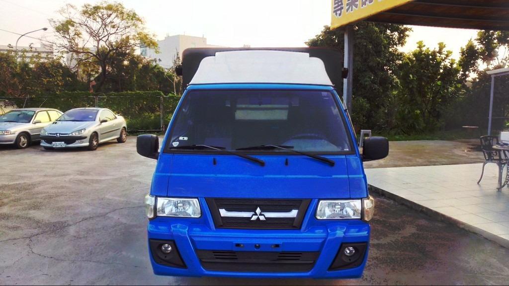 認證車 2013年 2.4 藍色 DELICA 實跑7.6萬公里 原漆原鈑件 木斗帆布蓬發財車 電動車窗 mp3音響 霧燈