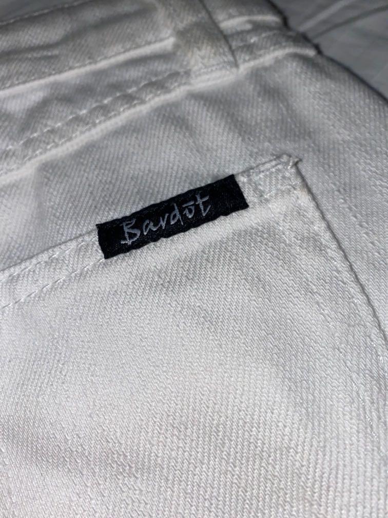 Bardot Size 10 White Denim Skirt. New Without Tags