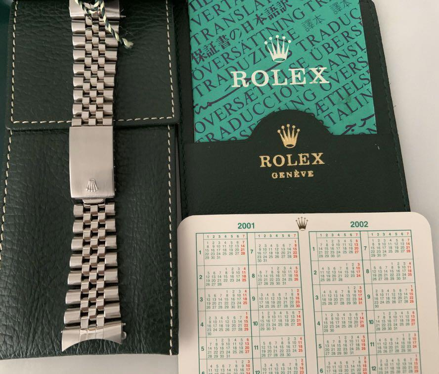 (COMPLETE SET) Rolex Oyster Perpetual Datejust 16234 with White Gold Bezel and Rhodium Dial with Roman Indices