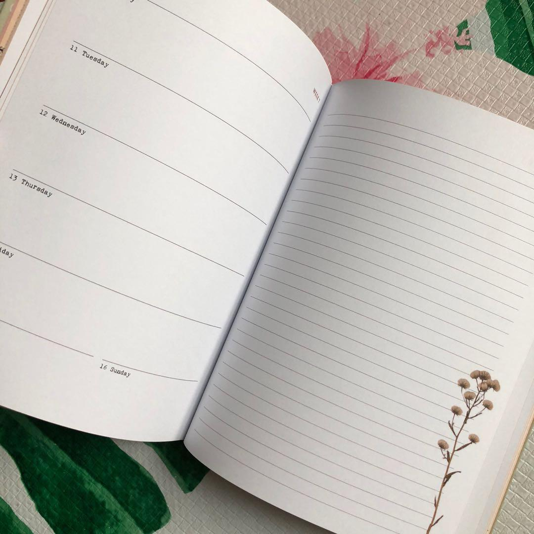 Flow ~ A Diary for 2020 planner nature with sticker notebook