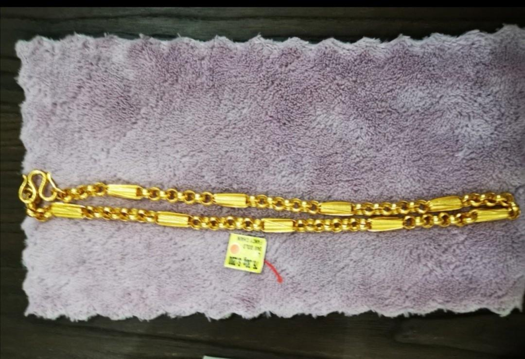 It's not 22k 916) Authentic Pure Real 24K 999 Gold Necklace Length 20inch 76.3g X Per grams is 80 dollar = ( meet up location any Prawnshop goldshop at AMK Central to verify