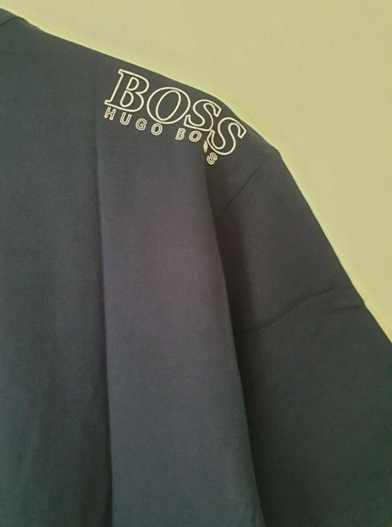 Navy Blue Hugo Boss Men's T-Shirt Size LARGE RRP £ 45