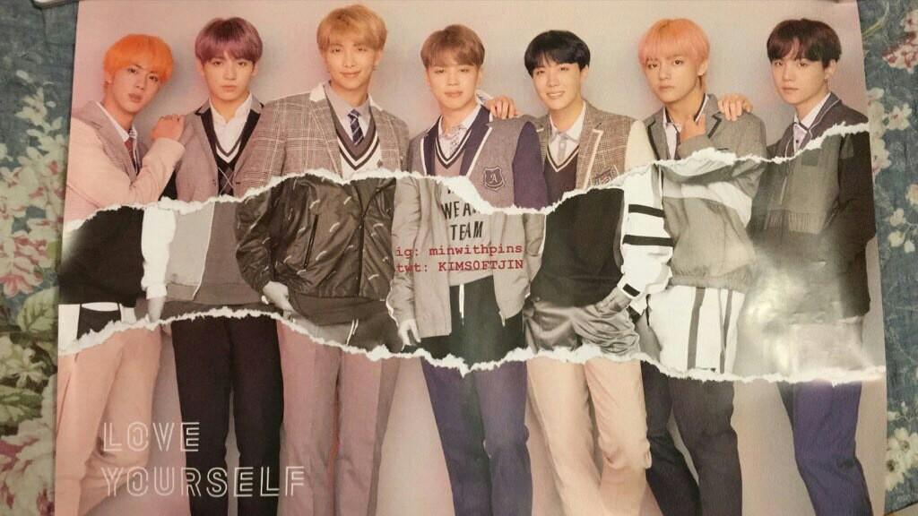 OFFICIAL BTS LOVE YOURSELF:ANSWER (L VERSION) POSTER