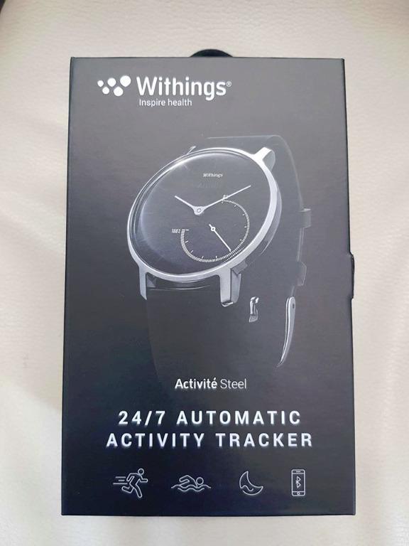 WITHINGS / NOKIA ACTIVITE Steel Activity Sleep Tracking Watch Black