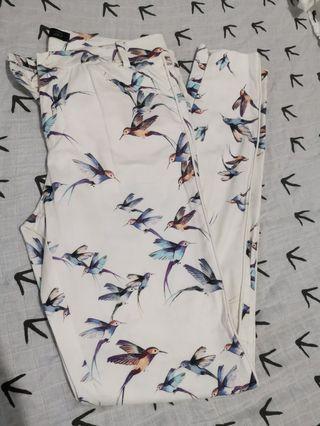 Zara Printed White Pants