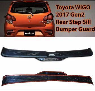 Wigo Rear Bumper Guard Stepsill 2nd Gen 2017 onwards