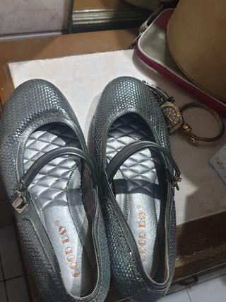 Silver Grey Shoes for Ladies