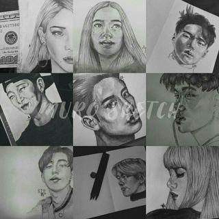 Jasa Sketsa Wajah dengan Pensil