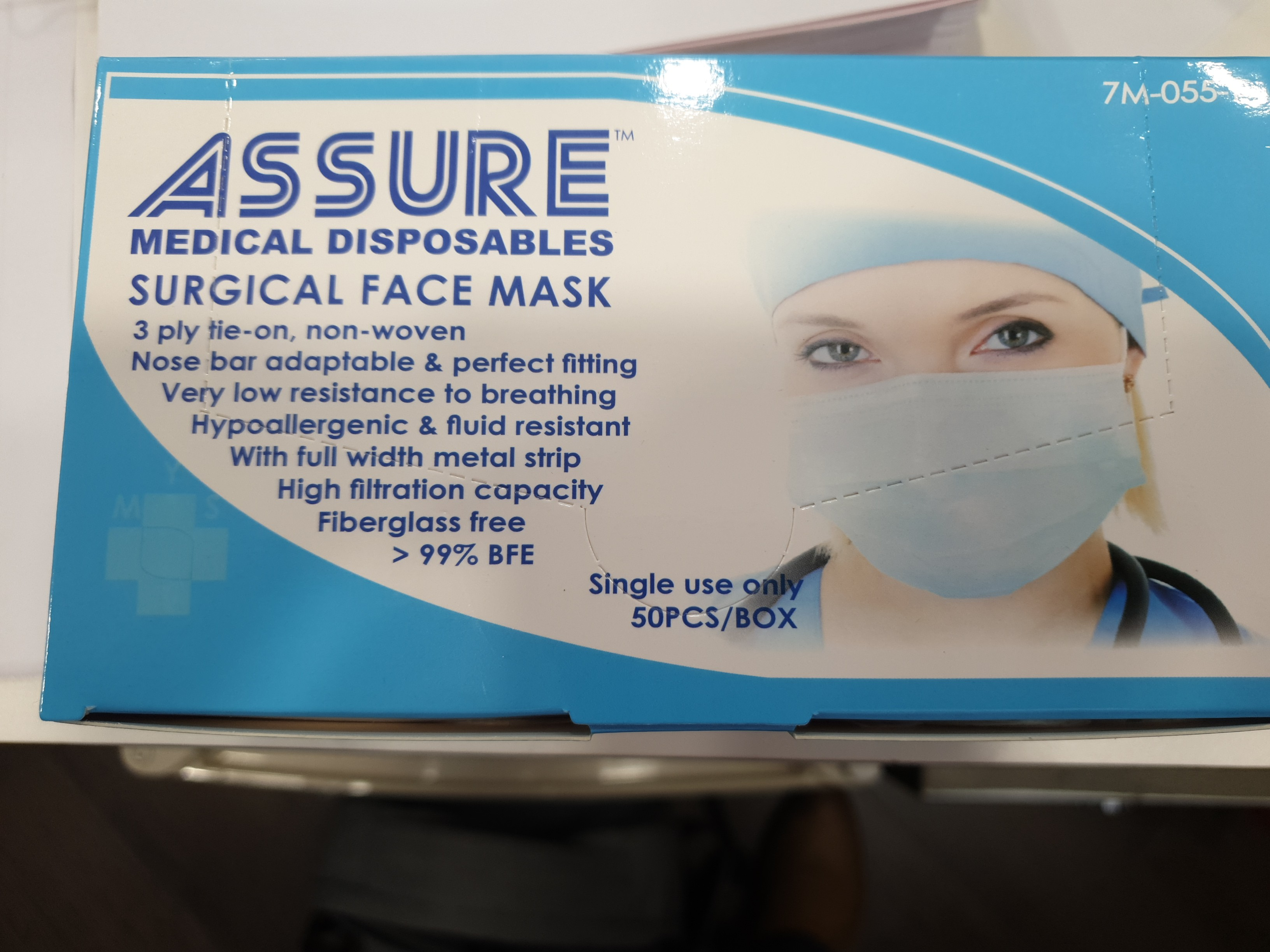 Surgical Limited 50pcs Face Supply Assure Masks Everything