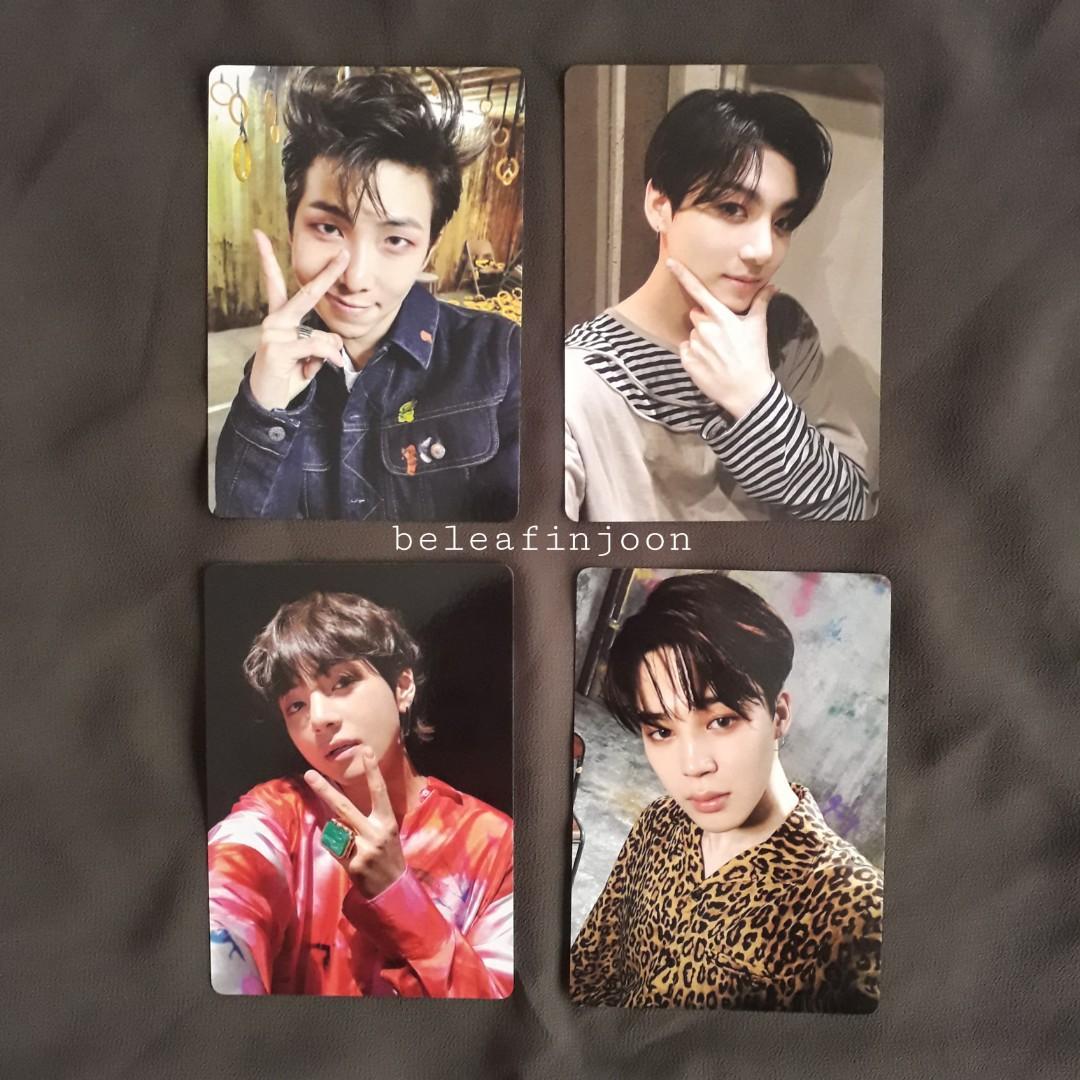 BTS Official Light Stick ver.3 Photocards (RM, JUNGKOOK, V, JIMIN)
