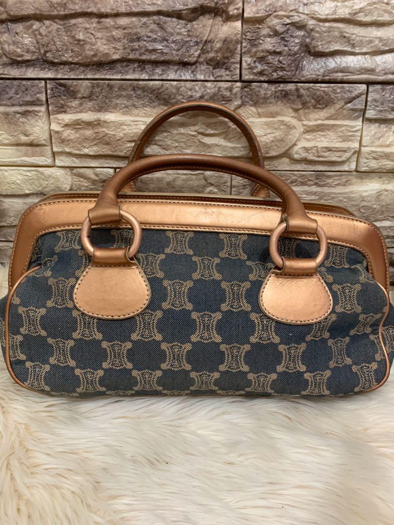 Celine jinjing authentic, kanvas mix leather, 36 x 18 x 18 cm, good cond 90% OK, bag only