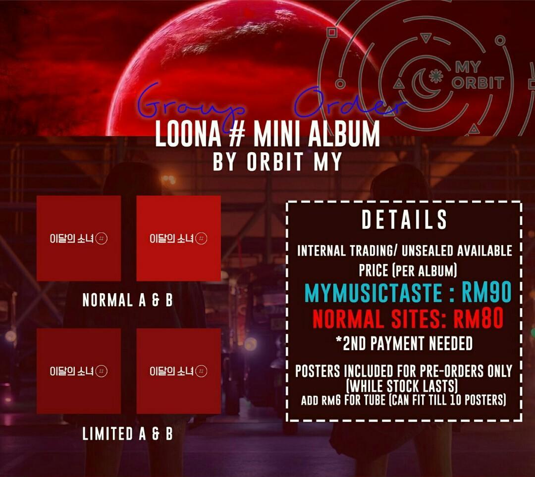 [G.O] LOONA [#] MINI ALBUM KOREAN Sites/MyMusicTaste