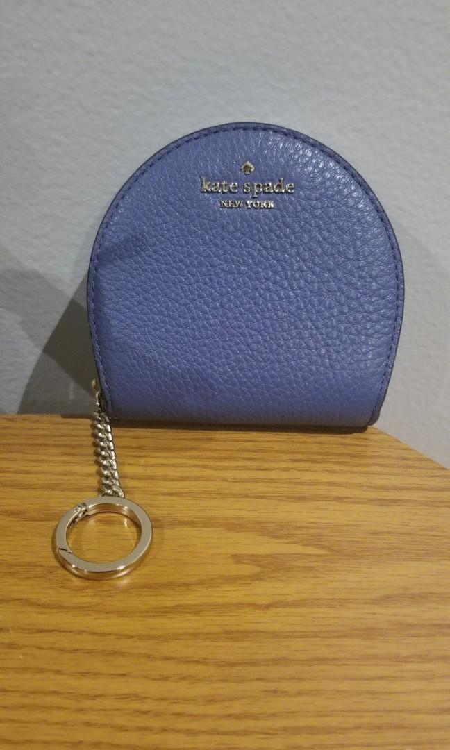 Kate Spade Jackson Consellblu half moon Wallet keychain