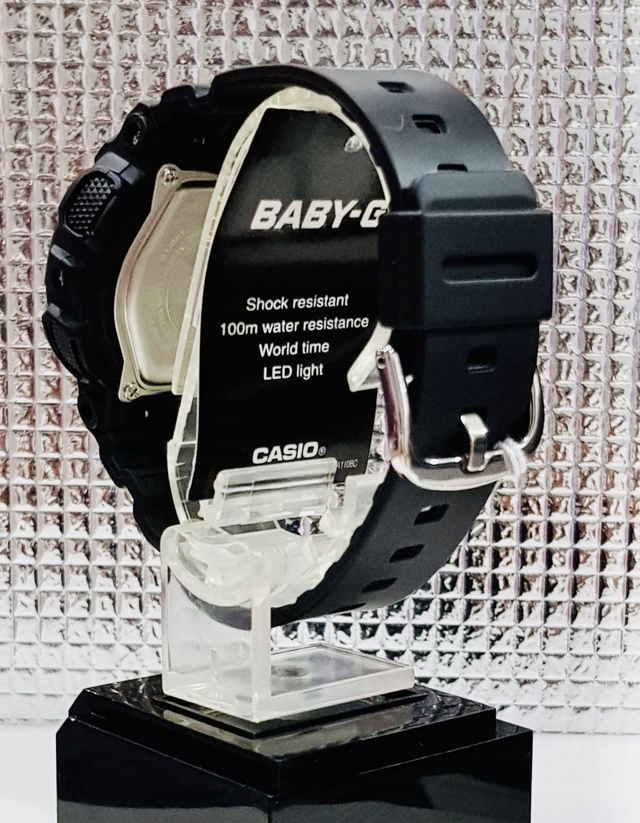 NEW🌟BABYG UNISEX SPORTS WATCH : 100% ORIGINAL AUTHENTIC CASIO BABY-G-SHOCK ( GSHOCK ) : BA-110RG-1A / BA-110-RG-1A (BLACK ROSE-GOLD)