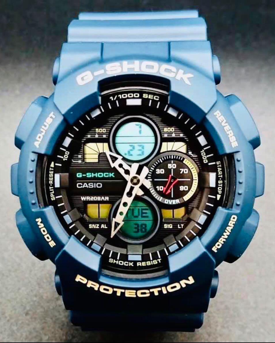 NEW🌟GSHOCK UNISEX DIVER SPORTS WATCH : 100% ORIGINAL AUTHENTIC CASIO G-SHOCK : GA-140-2A (SEA SKY BLUE)