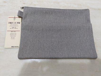 無印良品帆布/丹寧平形小物袋