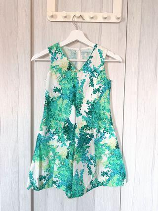 100% Authentic Gingersnaps - Green Floral Dress