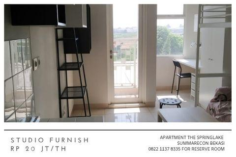 Studio Furnish Apartment The Springlake Summarecon Bekasi 20jt/th