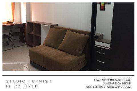 Studio Furnish Apartment The Springlake Summarecon Bekasi 22jt/th